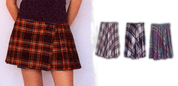 recycled school girl skirts